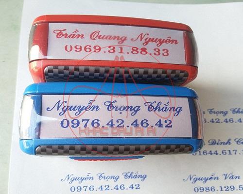 Khắc dấu tên giá rẻ, khắc dấu online giao hàng tận nơi