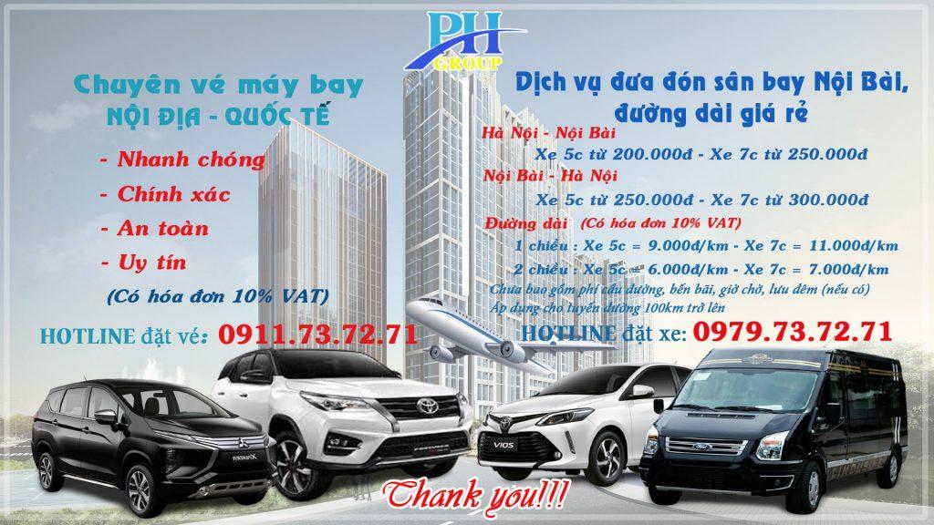 Bảng báo giá Taxi Nội Bài Hà Nội